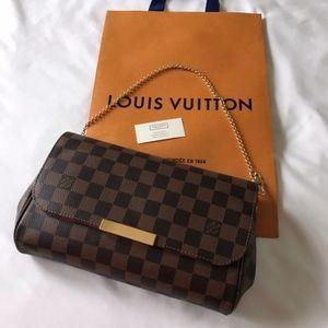 2019 Authentic Louis Vuitton Favorite MM Damier